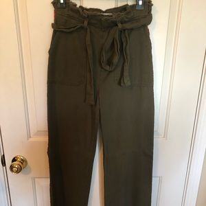 Zara Green and Red Trouser